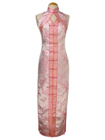 Mandarin Collar Brocade Dress-Chic Chinese Pattern Brocade Dress