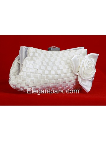 Ivory Satin Evening bags