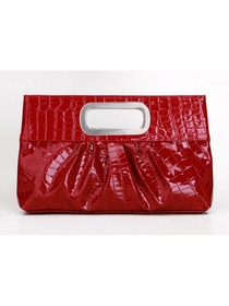 Red PU Elegant Evening/Wedding Handbag