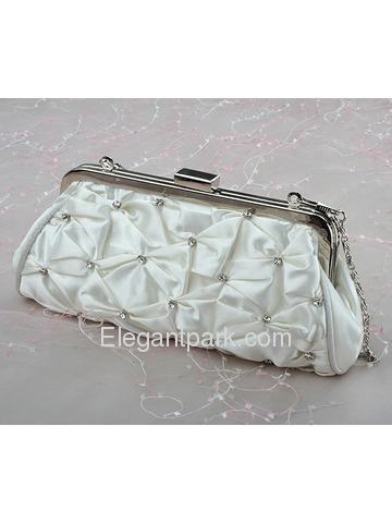 Trendy White Evening Bags With Decorations