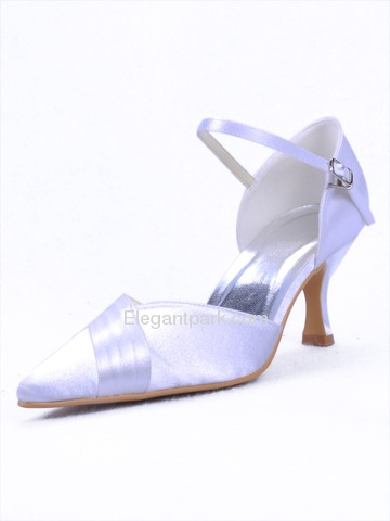 Elegantpark Pointy Toes Stiletto Heel Satin Evening Shoes (EP11012)