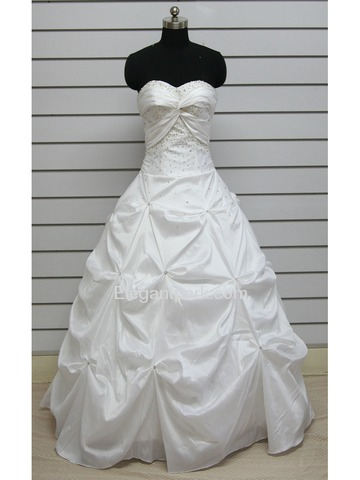 Ball Gown Ruched Sweetheart Floor Length Beading Taffeta Mardi Gras Dress (PR0052)