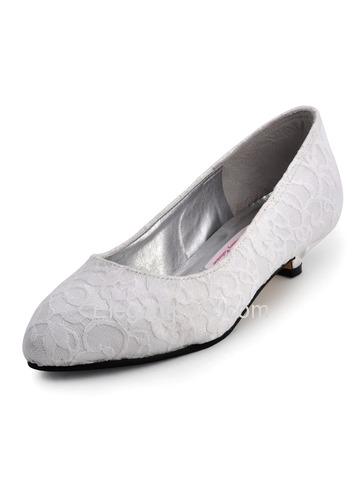 Heel Wedding Shoes On Elegant Low Heel Satin Lace Bridal Shoes Aj002  Elegantpark Com