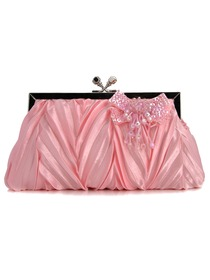 Gorgeous Pink Satin Evening Bag Handbag Clutch More Color Available