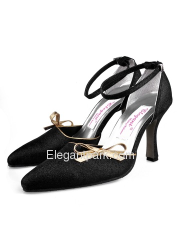 Elegantpark Modern Glitte PU Stiletto Heel Buckle Wedding Evening Shoes More Colors Available (A254)