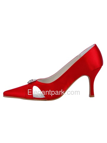 Elegantpark Slim Satin Pointy Toes Stiletto Heel Party Shoes (EP11009)