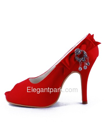 Elegantpark Chic Satin Platforms Stiletto Heel Party Shoes (EP11010-IP)