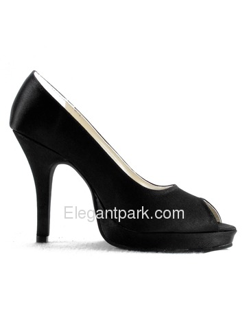 Elegantpark Peep Toe Stiletto Heel Satin Evening Shoes With Platform (EP11017-PF)