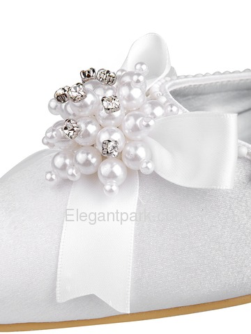 Elegantpark Satin Pointy Toes With Bowknot Wedding Bridal Shoes (WM-018)