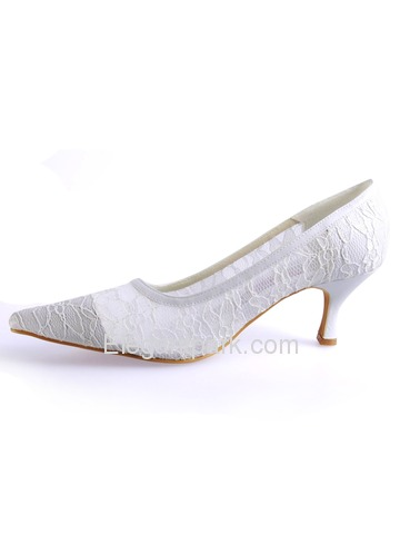 Elegantpark Modern Pointy Toes Stiletto Heel Lace Shoes (AF025)