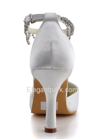 Elegantpark Pointy Toes Strappy Satin Bridal Shoes with More Color Available (MM-023)