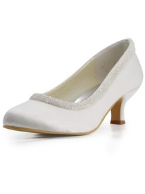Chunky Heel Bridal &amp Evening Shoes