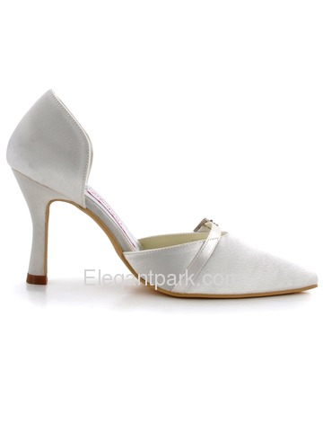 Elegantpark Modern Satin Pointy Toes Stiletto Heel Evening Shoes (MC-020)