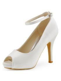 2244f79e82e Elegantpark Platform Peep Toe Stiletto Heel Satin Evening   Party Bridal  Shoes