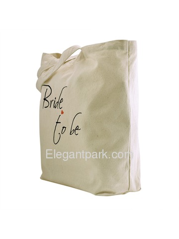 ElegantPark Bride to Be Tote Bag For Wedding Party Natural Canvas 100% Cotton