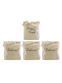 Tote bag Set forWedding Favors Bride to Be Bridal Shower Bachelorette Gifts Canvas 100% Cotton