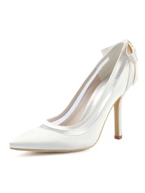 7d7cbc58f HC1806 Women Strappy Pointed Toe High Heel Pumps Satin Evening Wedding  Party Shoes