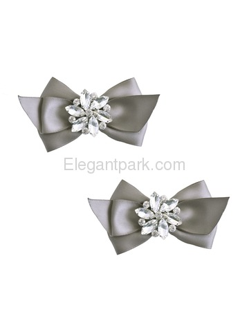 6ab1457a8814f ElegantPark Women Wedding Accessories Bow satin with Rhinestones ...