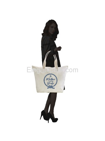 ElegantPark Loop Mother of the Mother Tote Bag Wedding Bridal Shower Gifts Zip 100% Cotton