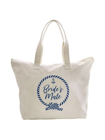ElegantPark Loop Bride`s Mate Tote Bag Wedding Bridal Shower Gifts Zip 100% Cotton