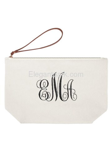 ElegantPark PERSONALIZED Custom Gift Travel Makeup Cosmetic Bag Wristlet Pouch Gifts with Zip