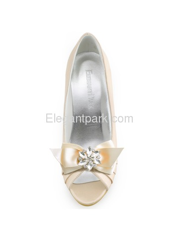 ElegantPark 2 Pairs Combination Women Wedding Accessories CQ Ivory+AJ Champagne Shoes clips